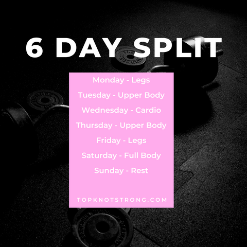 6 Day Training Workout Split Example