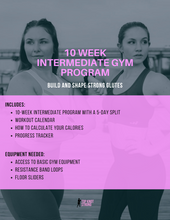 Load image into Gallery viewer, 10 Week Build a Booty Intermediate Fitness Program eBook