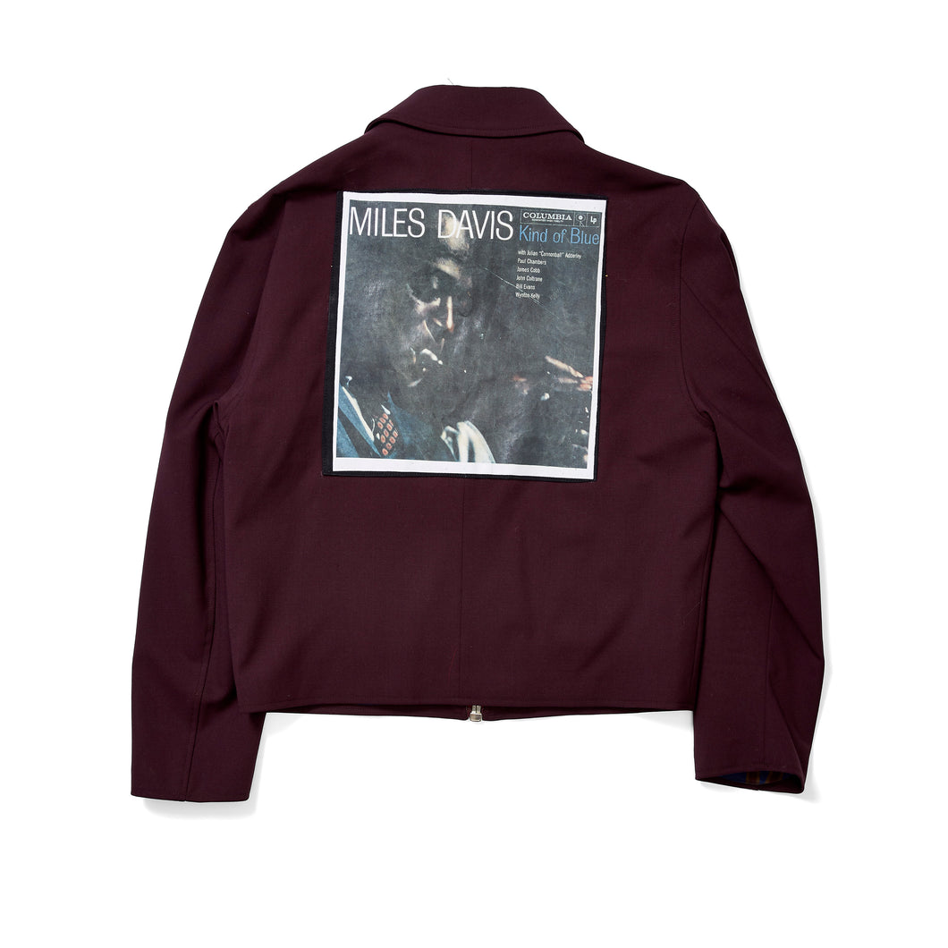 Maroon Jacket with Miles David Patch