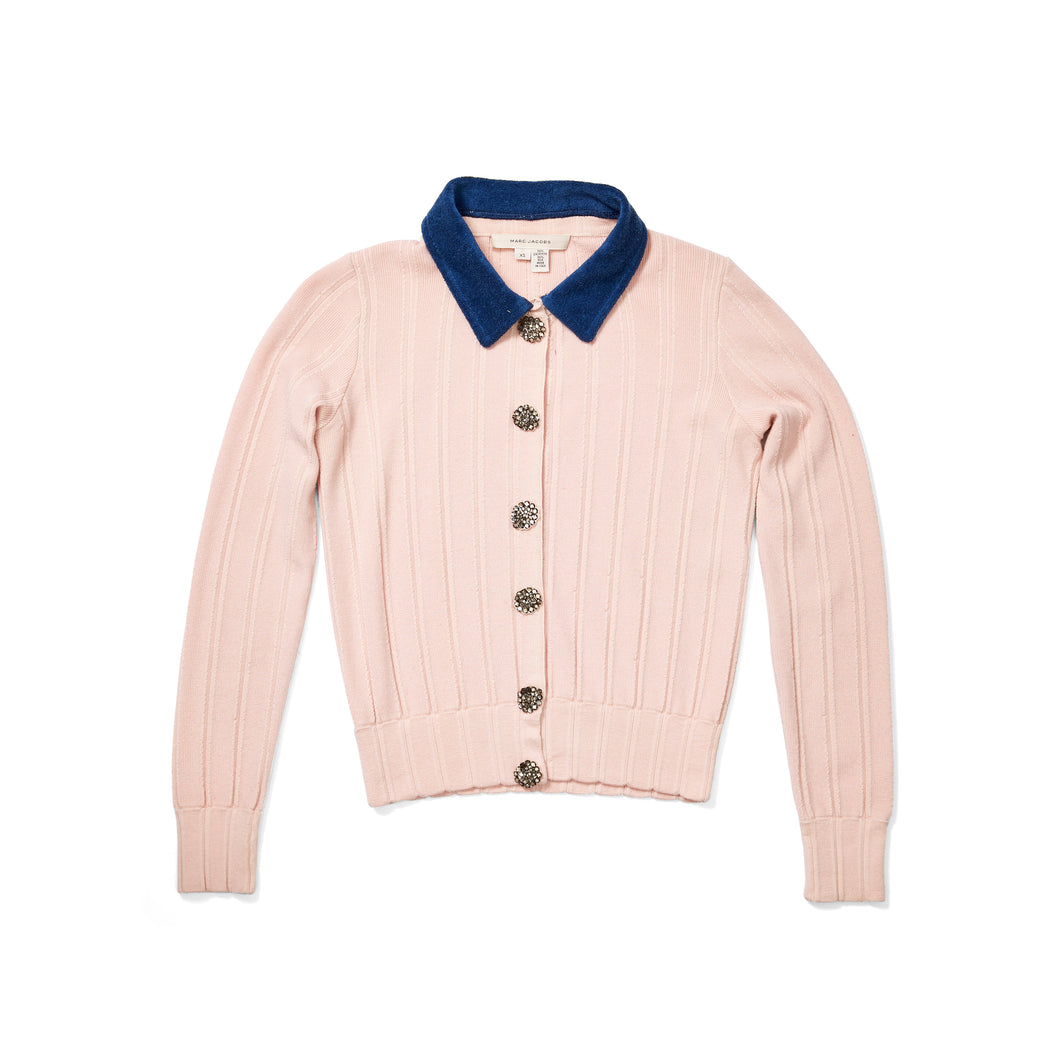 Marc Jacobs Cashmere Cardigan with Terry Cloth Collar