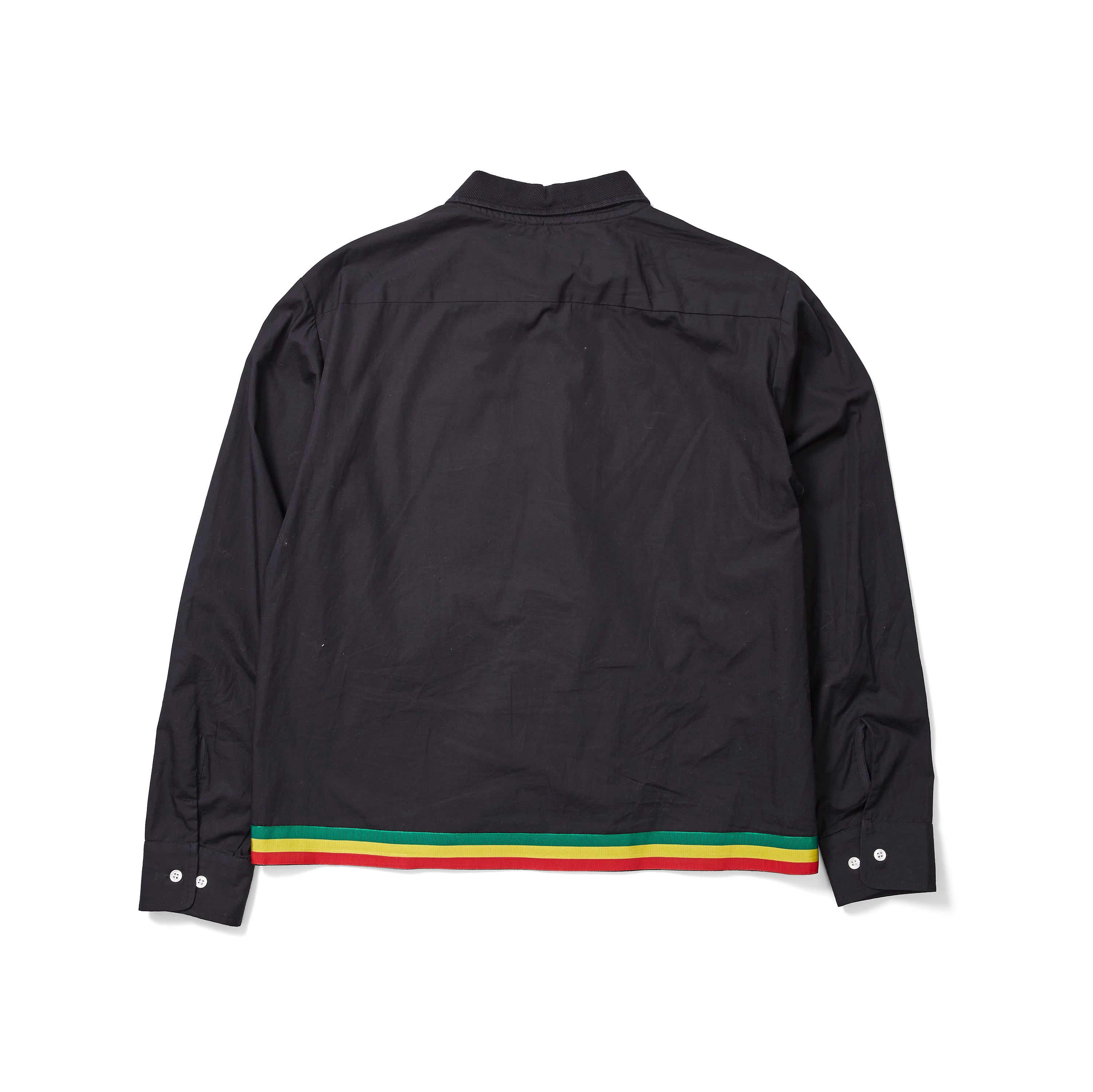 ACE Rasta Stripe Button Down Shirt