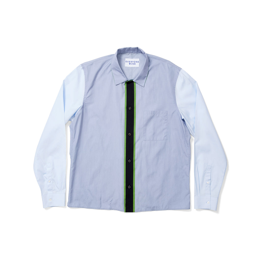 Prada Combo Sleeve Striped Shirt