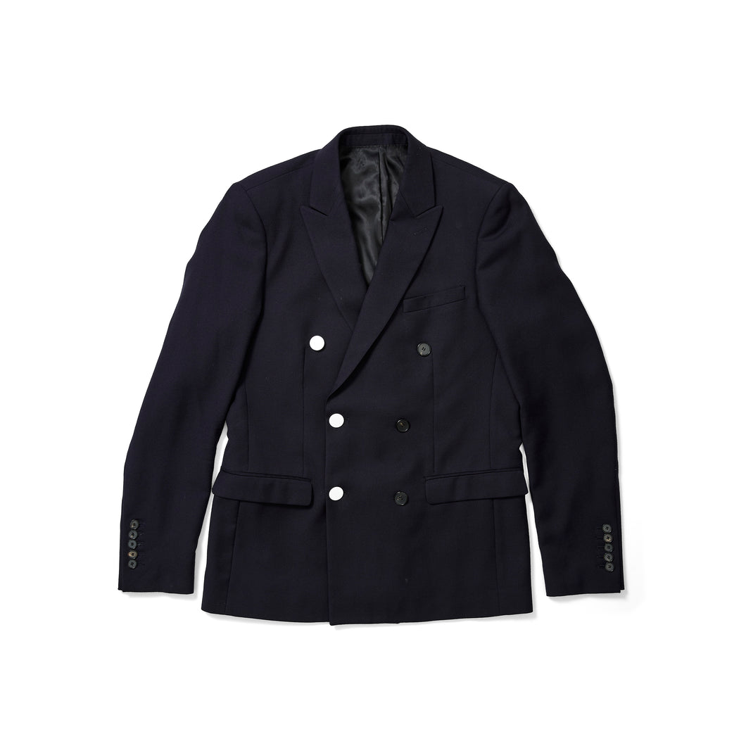 Sandro Navy Blazer with White Buttons