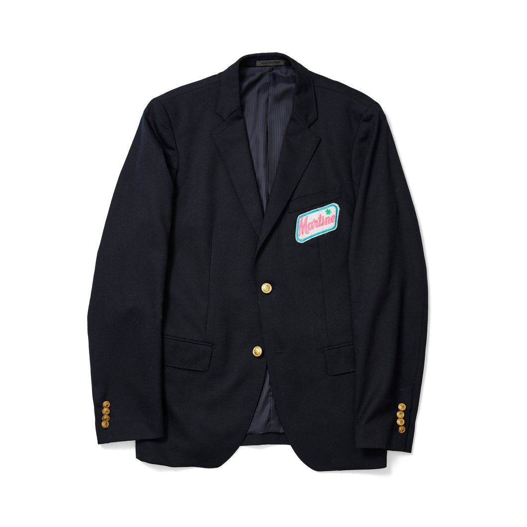 Navy Prep Blazer with Vintage