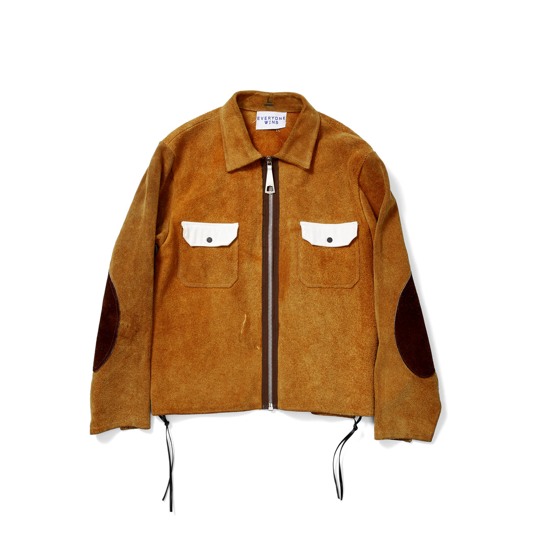Cowhide Jacket with Contrast Patch Pockets