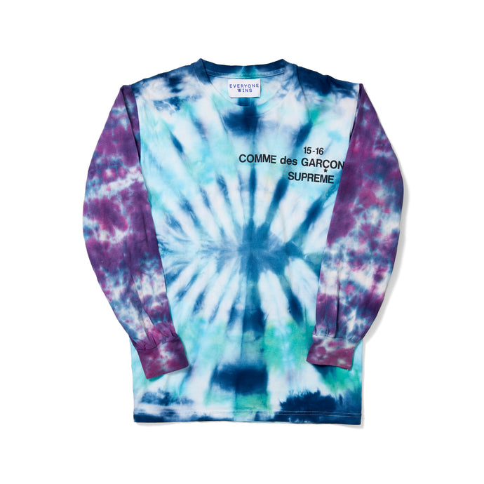Comme Des Garcons x Supreme Tie-Dye Long Sleeve Shirt