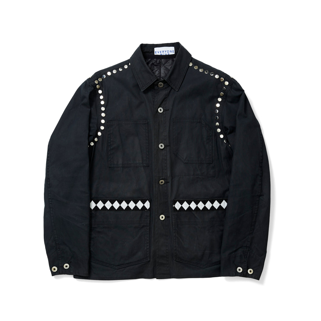 Studded Wax Workman Jacket with Removable Vest