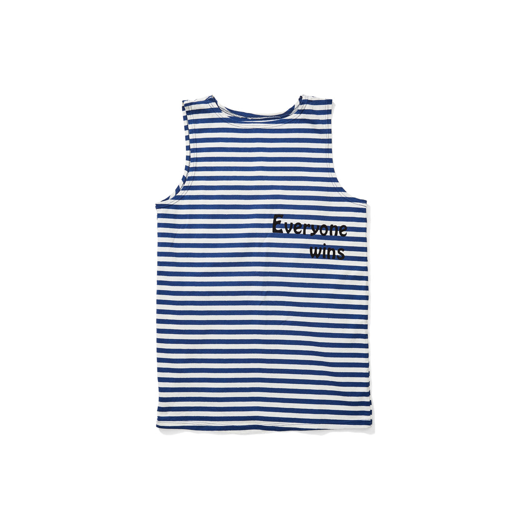 Blue Striped Logo Tank