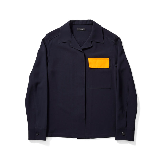 Theory Jacket with Oversized Yellow Pocket