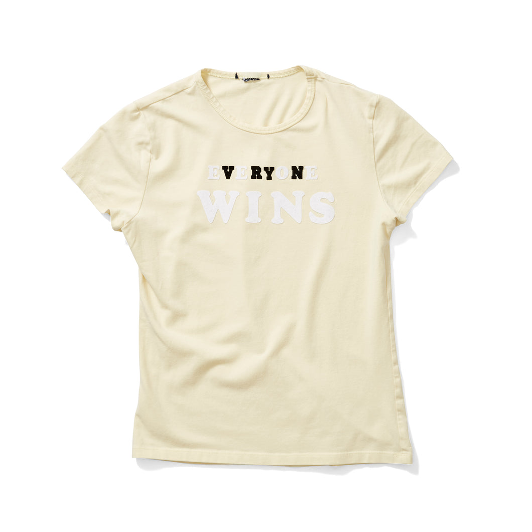 Butter Yellow Stretch Tee with Embroidered Logo