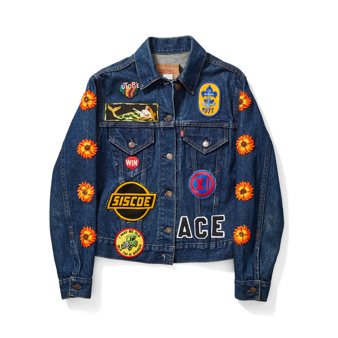 Daisy Patch Denim Jacket
