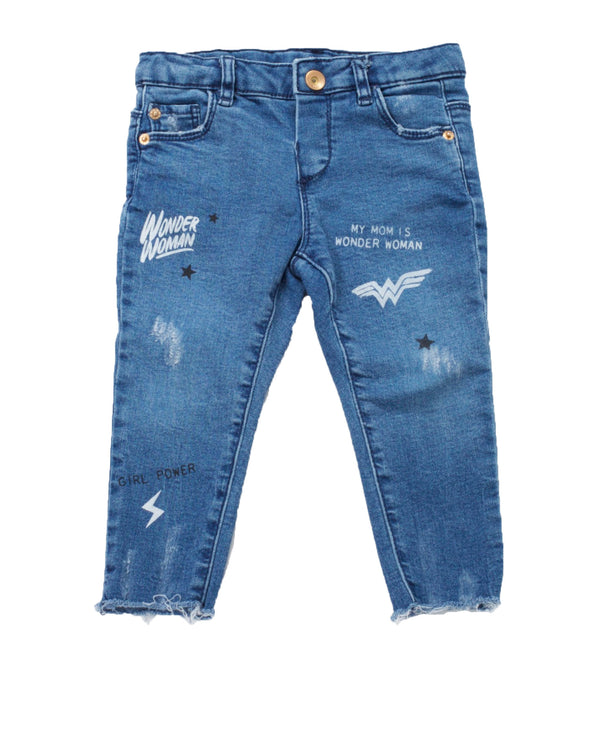 Wonder Woman Distressed Skinny Jean