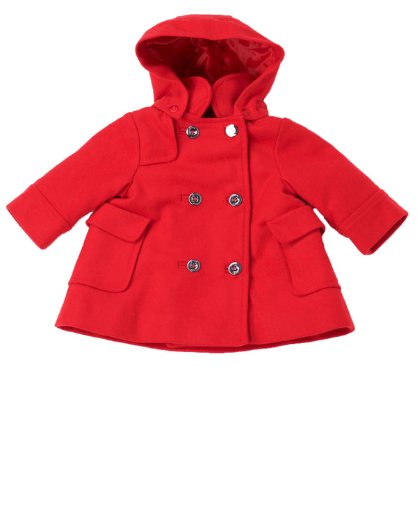 Wool Duffel Coat with Removable Hood