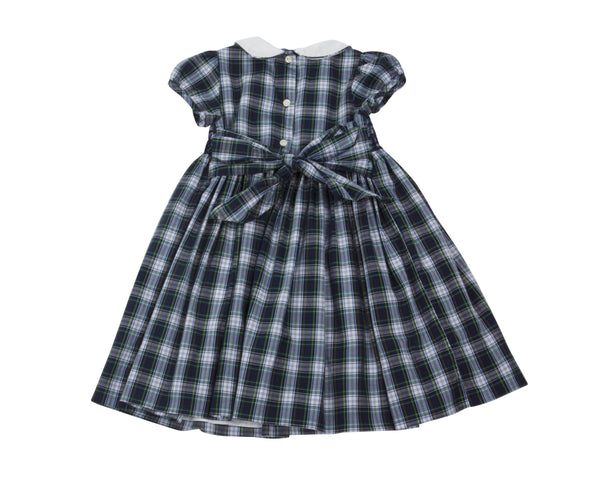 Tartan Occasion Dress with Smocking