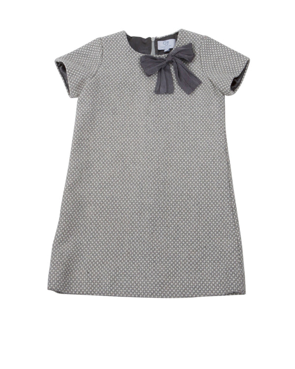 Short Sleeve Shift Dress with Bow