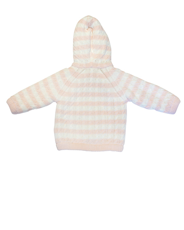 Striped Hoodie with Fleece Lining