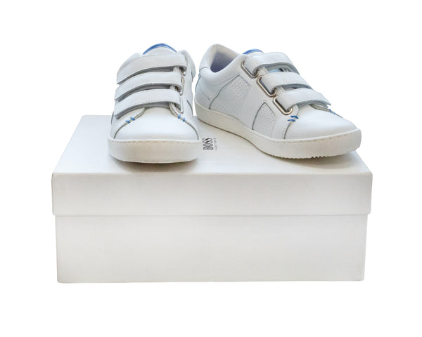 Leather Velcro Sneakers with Tags