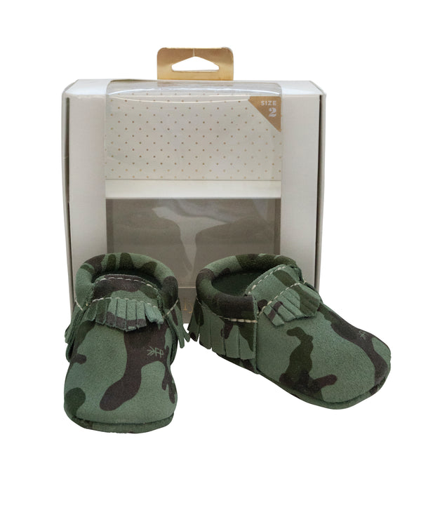 Camo Suede Mocs with Tags