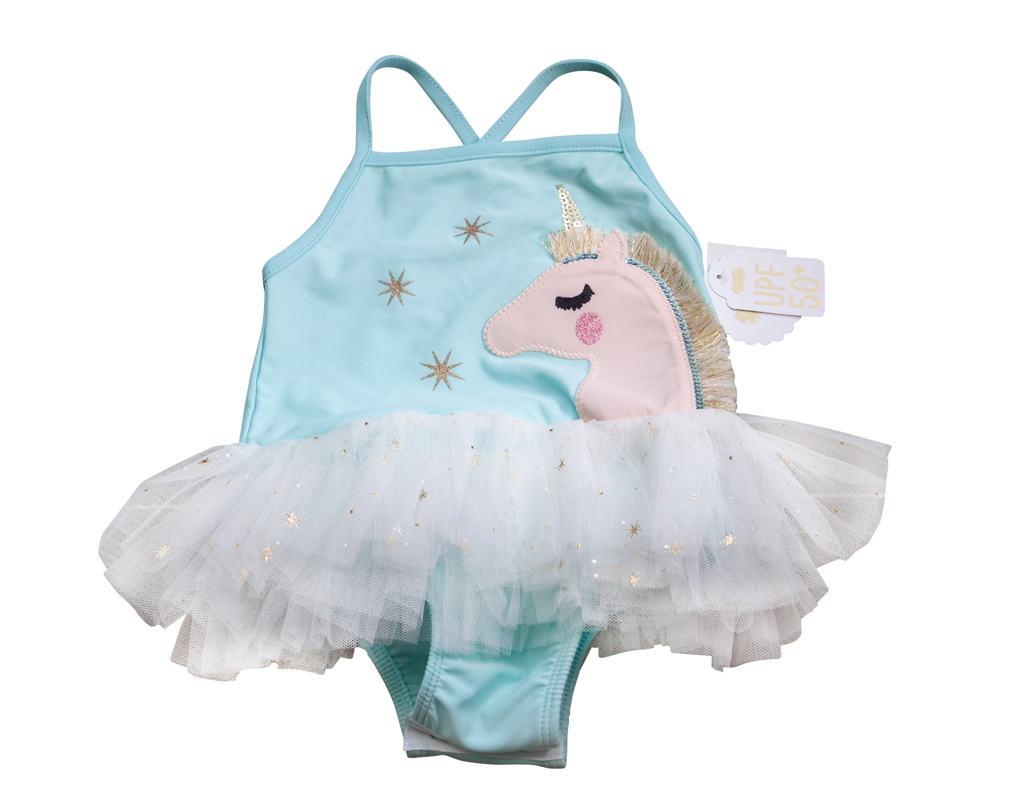 Unicorn Tutu Swimsuit with Tags
