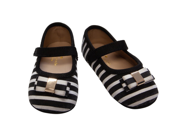 Stripe Bow Flats