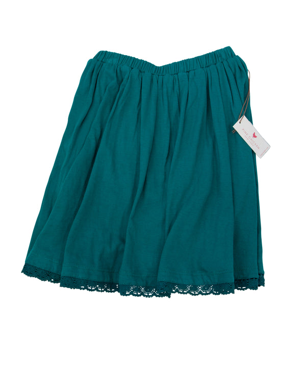 Lace Trimmed Knit Skirt with Tags