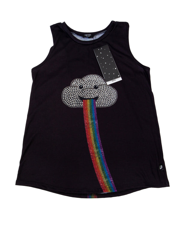 Rainbow Racerback Tank with Tags