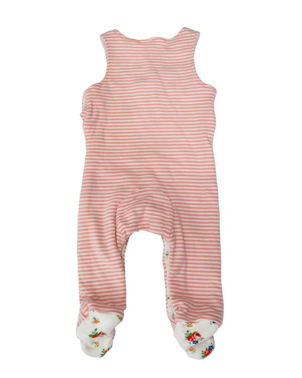 Reversible Knit Footie Overalls