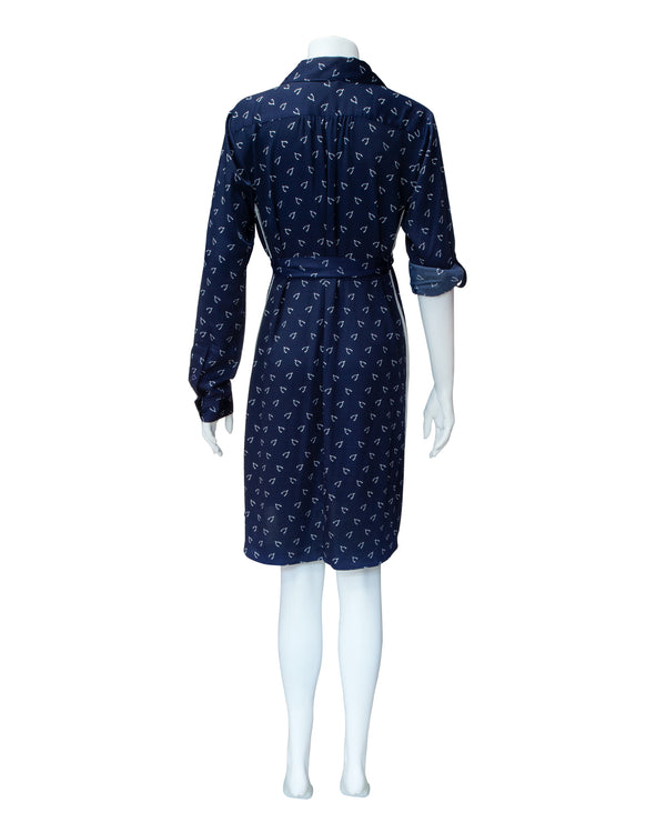 Wishbone Printed Maternity Shirtdress