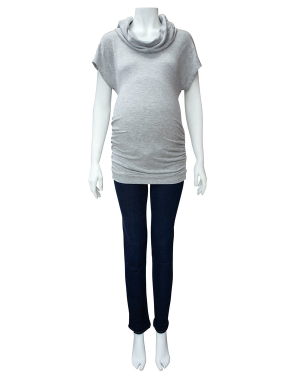 Cowl Neck Maternity Tee
