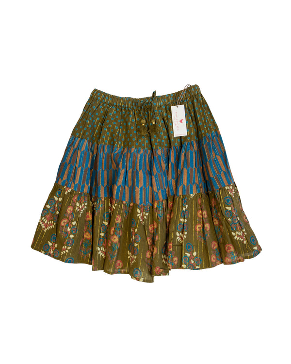 Multi Print Full Skirt with Tags