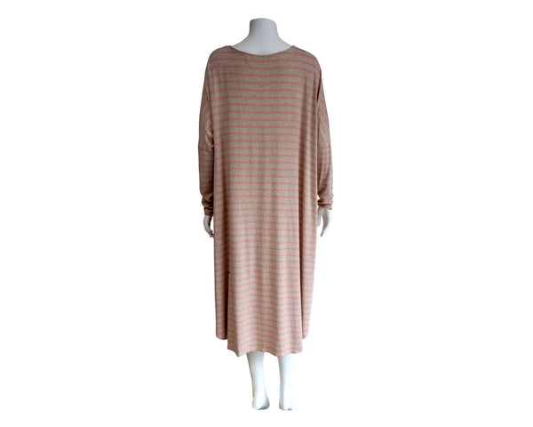 LS Heather Stripe Knit Maternity Dress