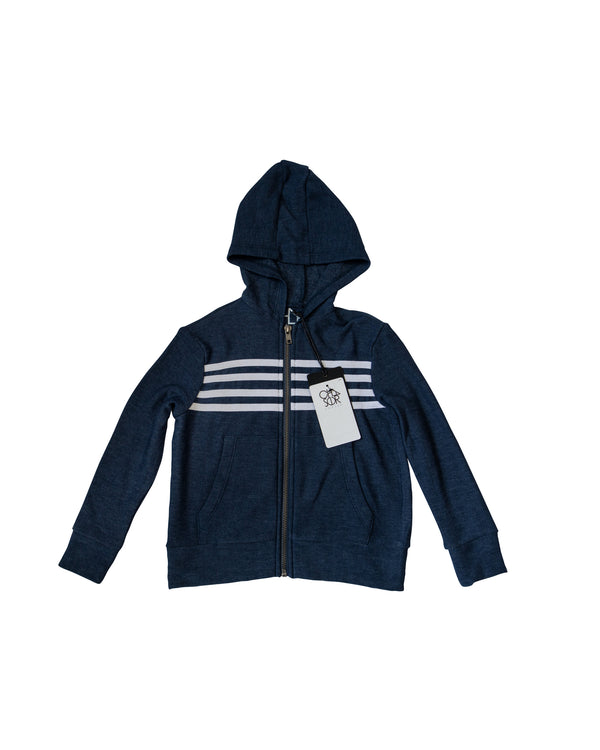 Stripe Full Zip Hoodie with Tags