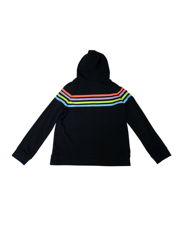 Highlighter Stripes Pullover Hoodie