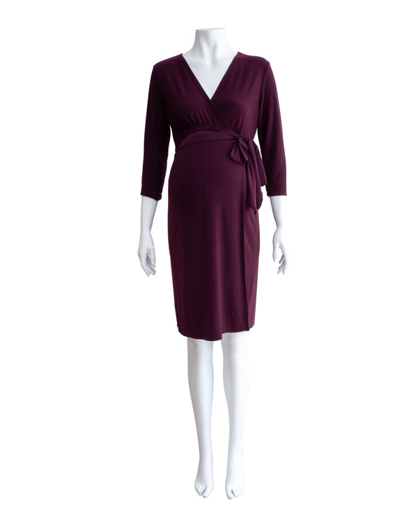 Wrap Front Maternity Dress