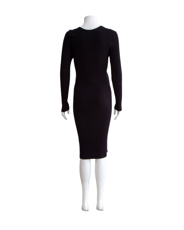 Ribbed Maternity Sweater Dress