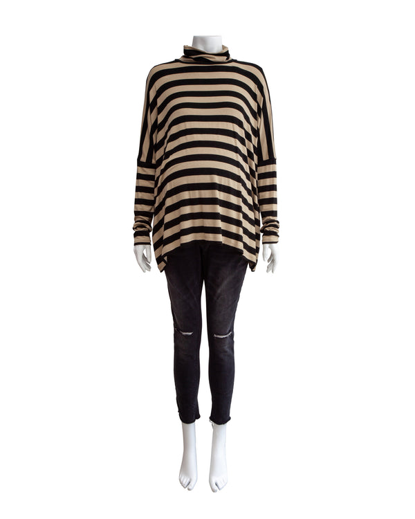 Stripe Maternity Turtleneck