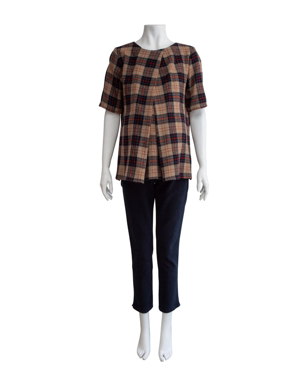 SS Plaid Maternity Tunic