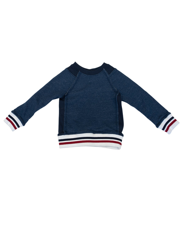Sweatshirt with Stripe Cuff
