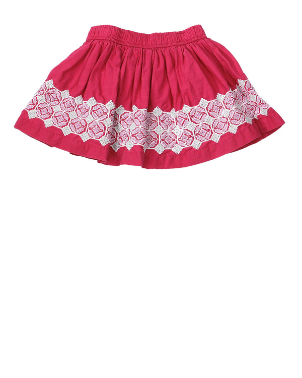 Lace Inset Twirly Skirt