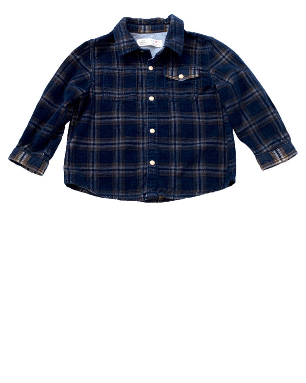 LS Plaid Cord Shirt
