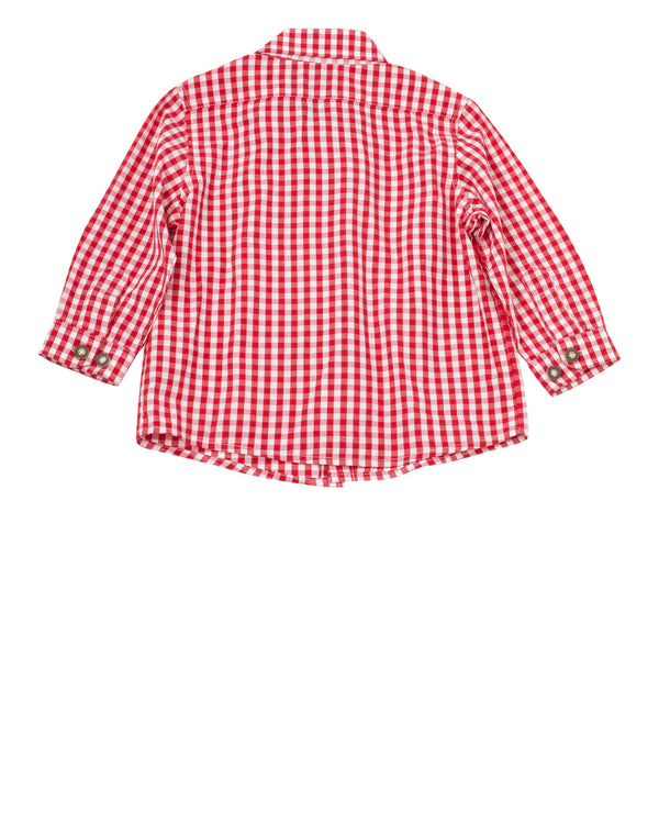 LS Gingham Button Down Shirt