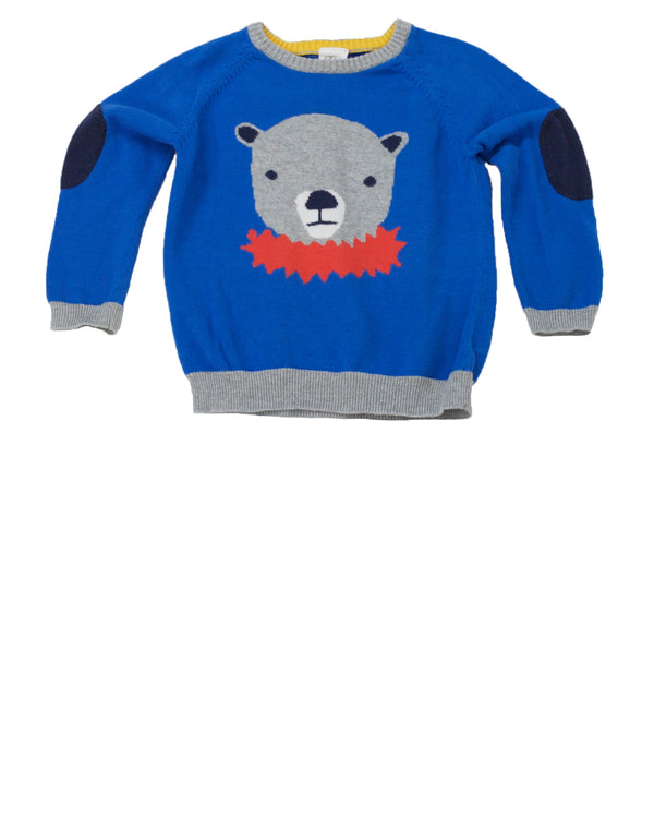 Circus Bear Cotton Crewneck Sweater
