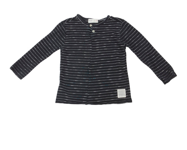 Striped LS Henley Tee