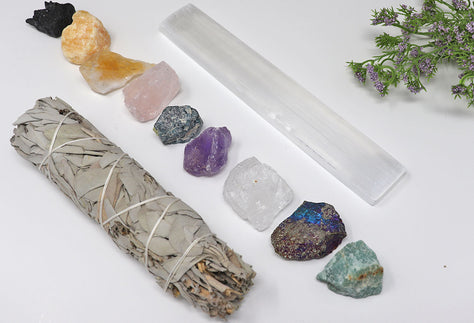 7 Natural Stones Chakra Healing Bundle | Crystal Chakra Bundle for Health & Wellness