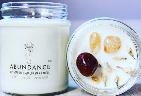 Abundance Crystal Candle | Crystal Candle Décor | Crystal Candle Abundance