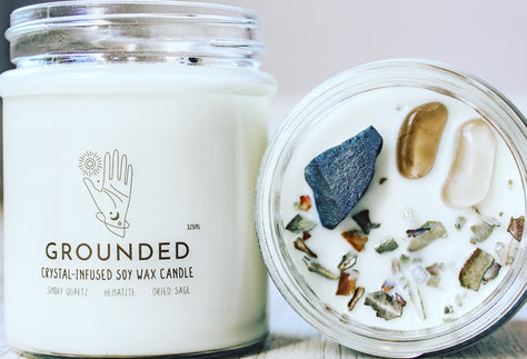 Grounded Crystal Candle | Grounding Crystal Meditation w Candle | Healing Candle Therapy