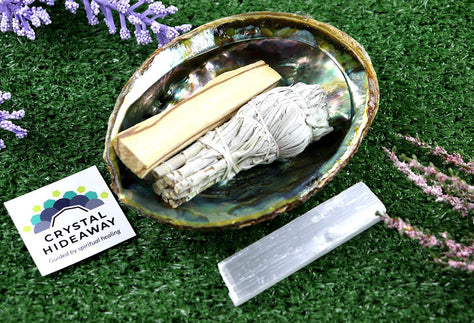 Abalone Shell Smudge kit