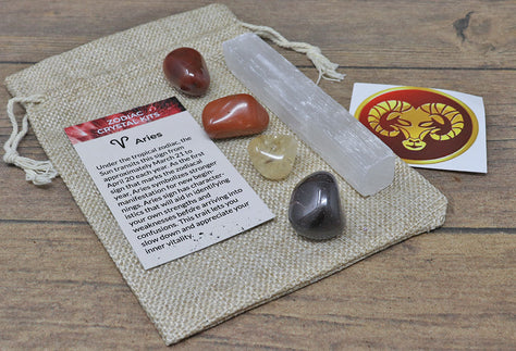 Aries Sun Sign Crystal Pack