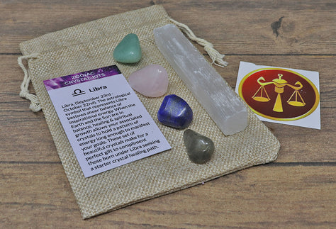 Libra Sun Sign Crystal Pack