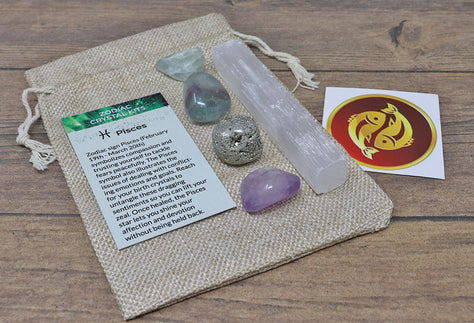 Pises Sun Sign Crystal Pack